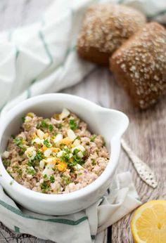 Tonijnsalade (voor op een toast of brood) zonder mayonaise | Eef Kookt Zo