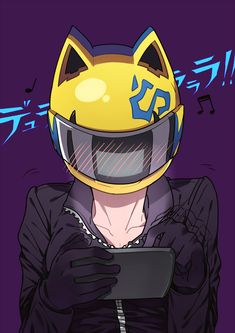 blushing Celty ;) I bet she got a sexy message from Shinra lol