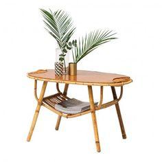 """table en rotin vintage années 50 """"Palmier"""" #rienacirer #vintage #meublevintage"""