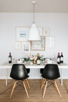 Get this similar look with the Truman Dining Chair in Black | Image from: http://www.jacquelynclark.com/page/3/