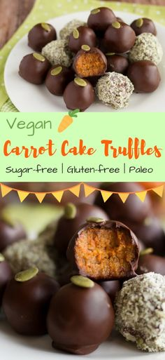 Vegan Carrot Cake Truffles - a sugar-free Easter recipe
