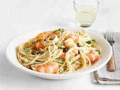 Get Lemon Spaghetti with Shrimp Recipe from Food Network