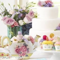 """English Afternoon Tea Party"" Party ware - Le Petite Putti - Canada - Putti Fine Furnishings"