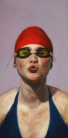 """Sunkissed"" - Jeff Hein {contemporary artist figurative female woman painting} Affectionate !!"