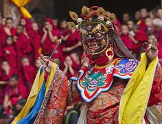 """The Most Attracting Festival of Bhutan  """"Thimphu Festival Tsechu"""" is one of the most enjoyable and beautiful festival.  Think a plan to visit and enjoy the cultural heritage of this festival. http://www.bhutanmahayanatours.com/festival-package-01.html  #Bhutan #Bhutanfestival #Bhutantourism"""