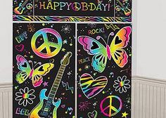 Graffiti Wall for Glow Party – Both a Craft AND Decoration