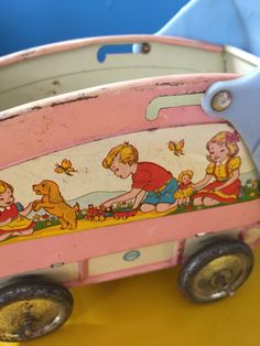 Vintage midcentury Ohio Art pink doll carriage by MaterialCultures