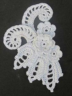 Irish Crochet Lace motif - something to make for a sampler book