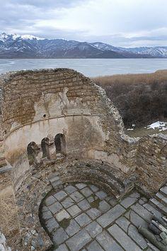 Agios Achilleios Basilica ruins, Lake Prespa, Macedonia Macedonia Skopje, Macedonia Greece, Albania, Antigua Yugoslavia, Places To Travel, Places To See, Republic Of Macedonia, Early Christian, Beautiful Castles