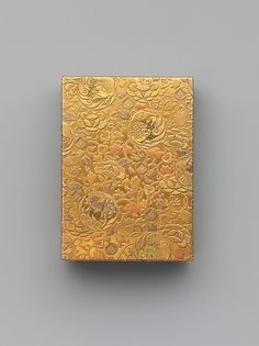 Box with Title Genji monogatari (The Tale of Genji) Period: Edo period (1615–1868) Date: 19th century Culture: Japan Medium: Gold maki-e with red lacquer