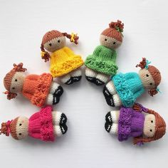 Best 12 Life's been a little stormy here this week…so I made my own rainbow! Looking forward to brighter days ahead. Knitted Doll Patterns, Knitted Dolls, Crochet Dolls, Knitting Patterns, Crochet Patterns, Fabric Yarn, Fabric Dolls, Loom Knitting, Baby Knitting