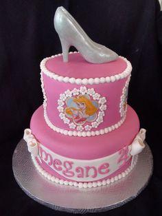 princess cake with chocolate Cinderella shoe