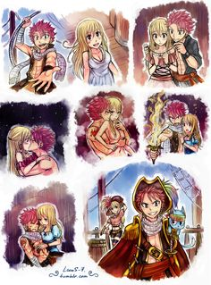 """ My AU - pirates NaLu."" Natsu is the capitan of pirates' command ""Fairy Tail"". Lucy is the commander of Magnolia's sea police. I invented my own story and drew some illustrations for it. Natsu Fairy Tail, Fairy Tail Lucy, Fairy Tail Ships, Fairy Tail Meme, Fairy Tale Anime, Fairy Tail Comics, Fairy Tail Family, Fairy Tail Guild, Fairy Tail Couples"
