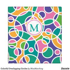 Colorful Overlapping Circles Monogram Binder