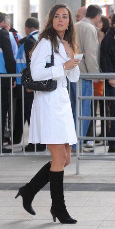 Clothing, White, Photograph, Street fashion, Footwear, Fashion, Uniform, Snapshot, Leg, Knee,