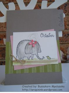 Birthday book - October divider page