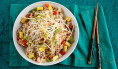 Oven-Baked Pork Fried Rice: : Ideal for busy weeknights, this baked version of fried rice with lean ground pork and shiitake mushrooms is a healthy one dish wonder! Top Recipes, Rice Recipes, Asian Recipes, Cooking Recipes, Healthy Recipes, Ethnic Recipes, Baked Pork, Oven Baked, One Pot Meals