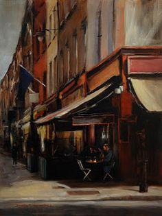 Jonelle Summerfield Oil Paintings: Dublin Cafe