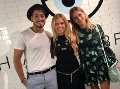 Valentina Ferragni, Giorgia Marin and Luca Vezil at the presentation of the new Chiara Ferragni shoes collection during the Milan Fashion Week, on September 27, 2015 in Milan, Italy.