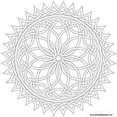 sun knotwork to color- transparent png version