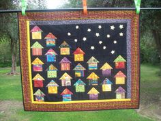 African huts quilt