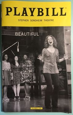 Beautiful: The Carole King Musical NYC Broadway Playbill October 2016