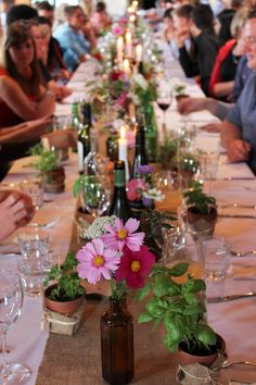 Wildflower Banquet Table