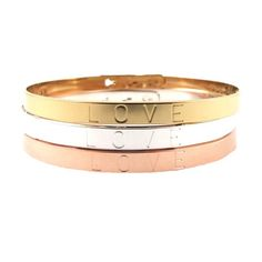 MYA BAY Armbånd - MYA BAY Love armbånd, justerbar armbånd med love tekst fra Mya Bay