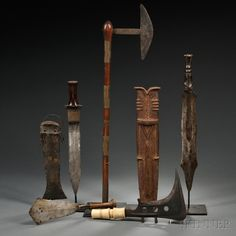 Five African Weapons | Sale Number 2705M, Lot Number 40 | Skinner Auctioneers