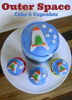 Outer Space Party Cake Recipe - Make and Decorate an Outer Space Cake and Cupcakes
