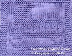 Knitting Cloth Pattern  CRADLE  Instant Download  by ezcareknits, $2.85