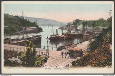 Loading Jetties, Fowey, Cornwall, c.1905-10 - Postcard