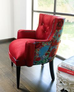 """""""Lipstick Rose"""" Chair by Haute House at Horchow."""