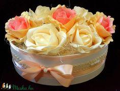 Vintage rózsabox barack  (pinkrose) - Meska.hu