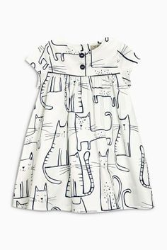 Buy Ecru Print Dress (3mths-6yrs) from the Next UK online shop