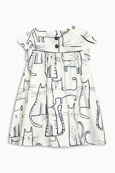 Buy Ecru Print Dress (3mths-6yrs) from the Next UK online shop