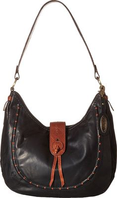 Born Womens Alamitos Hobo Black/Saddle One Size One Size Hobo Bags, Clothes, Shoes, Black, Jewelry, Women, Fashion, Outfits, Moda