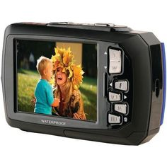 Ivation Underwater Shockproof Digital Camera & Video Camera w/Dual Full-Color LCD Displays - Fully Waterproof & Submersible Up to 10 Feet (Blue) Camera Photography, Underwater Photography, Camera Store, Camera World, Camera Reviews, A Whole New World, Video Camera, Best Camera, Digital Camera