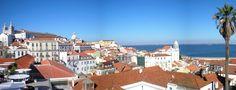 #Lisbonne - La plus célèbre vue de Lisbonne : le quartier de l'Alfama, vu depuis le Miradouro de Santa Luzia.
