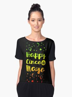 An exclusive Happy Cinco de Mayo Shirt, Great for celebration on May 5. This tee is the perfect gift for your friends who love to celebrate. Sizes available for Men, Women and Children and in various colors. Let's celebrate Mexican victory in these novelty graphic tees! • Also buy this artwork on apparel, stickers, phone cases, and more.