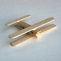 planes made from clothes pins and popsicle sticks
