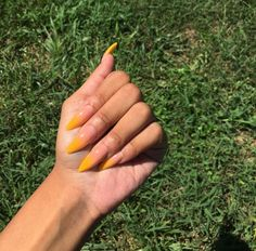 In search for some nail designs and ideas for the nails? Here's our list of 15 must-try coffin acrylic nails for fashionable women. Gorgeous Nails, Love Nails, How To Do Nails, Pretty Nails, My Nails, Acryl Nails, Nail Candy, Yellow Nails, Creative Nails