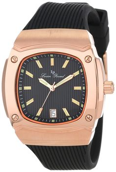 Lucien Piccard Women's LP-440-RG-01 Armada Black Textured Dial Black Silicone Watch >>> Check this awesome watch by going to the link at the image.