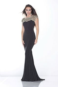 A fabulous full length black evening dress from Xcite Prom by Impression.