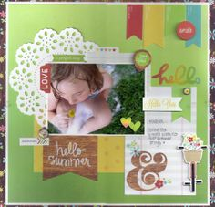A Perfect Day - Scrapbook.com - Made with Simple Stories Good Day Sunshine collection.