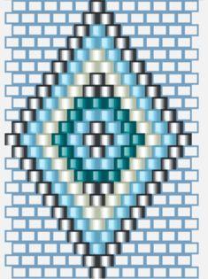 Pulsera BRICK STITCH_Design Glòria Fort - L'Antiga Casa Sala / Blog Beaded Earrings Patterns, Seed Bead Patterns, Native Beading Patterns, Mosaic Patterns, Bead Earrings, Bracelet Patterns, Embroidery Patterns, Knitting Patterns, Seed Bead Tutorials