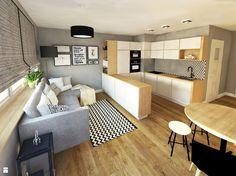 Salon z aneksem - zdjęcie od IN-HOME - Salon - Styl Skandynawski - IN-HOME