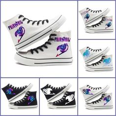 Fairy Tail Logo Shoes    #fairy #tail #shoes #logo #canvas #merchandise    https://www.animeprinthouse.com/collections/all/products/fairy-tail-logo-shoes