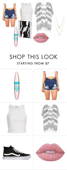 """""""Untitled #52"""" by lollaskye on Polyvore featuring Maybelline, River Island, Velvet, Vans and Lime Crime"""