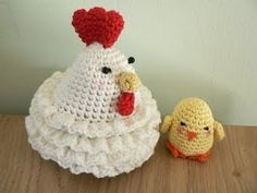 chicken crochet -  tea cozy and egg cozy? blog is gone but shouldn't be hard to figure out